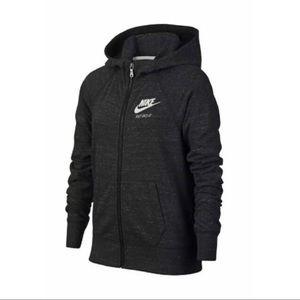nike youth gym vintage full zip hoodie